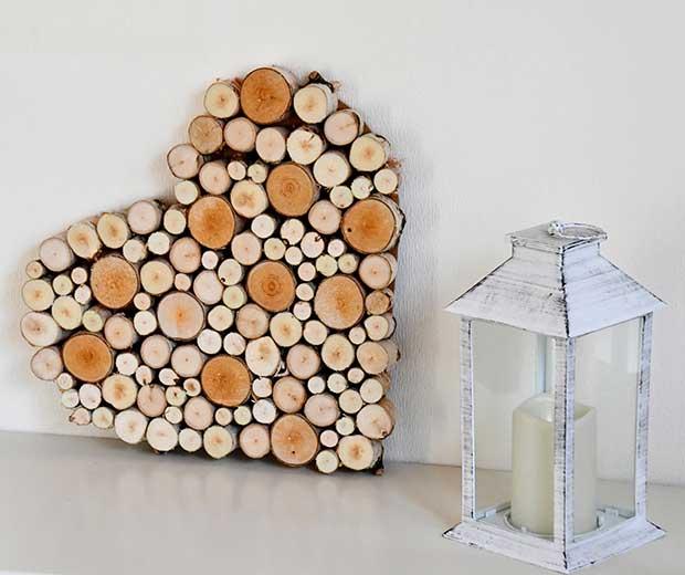 Deko Herz Aus Holzscheiben Selbstmachen Globus Baumarkt
