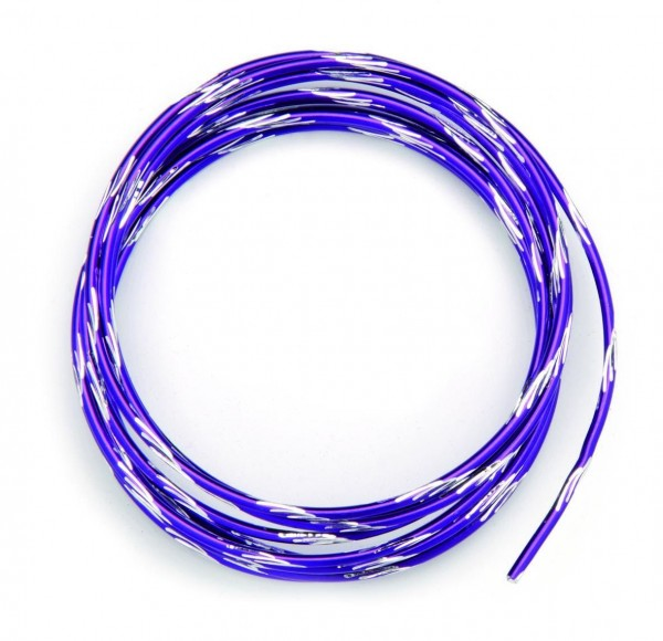 Glorex Alu-Draht bicolor violett 2 mm/ 2 m