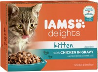 Iams Delights Katzennassfutter Kitten Huhn in Sauce