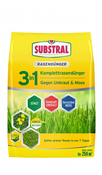 Substral 3 in 1 Komplettrasendünger für 250 m² 9 kg