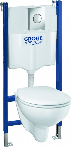 Grohe WC-Vorwand-Element Solido Compact 5-in-1 Set spülrandlos Spülmenge 6 – 9 Liter