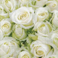 Paper+Design Servietten Tissue White roses