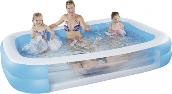 Happy People Family Pool mit Sichtfenster 262 x 175 x 50 cm