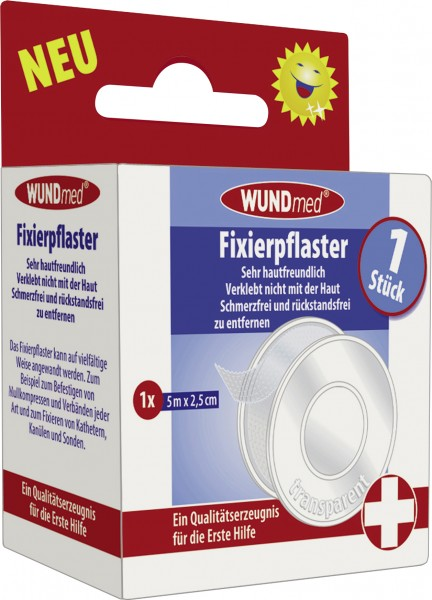Wundmed Fixierpflaster 2,5 cm x 5 m