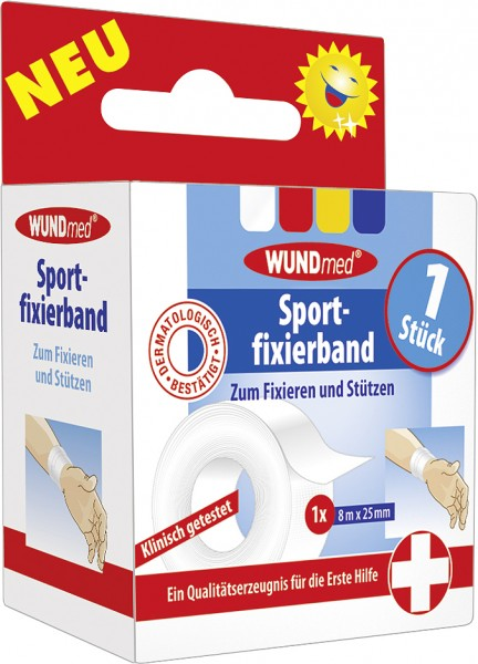 Wundmed Sportfixierband 8 m x 2,5 cm