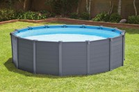 Intex Frame Pool Komplett Set Graphit mit Sandfilteranlage