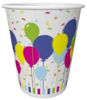 Duni Becher Pappe Balloons & Confetti 20cl