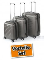 TrendLine Koffer-Trolley anthrazit 3er-Set