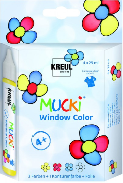 Kreul MUCKI Window Color 4er Set je 29 ml