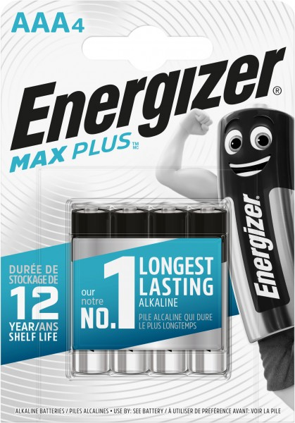 Energizer Max Plus Alkaline Micro AAA 1,5 V 4er Pack