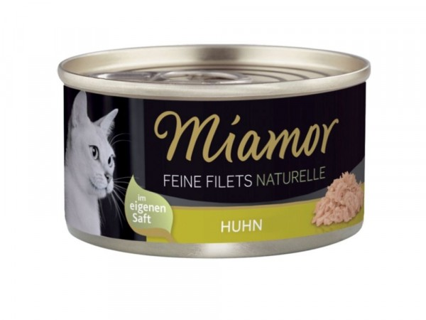 Katzennassfutter Feine Filets naturelle Huhn 80 g Miamor 80 g