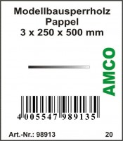 Amco Modellbausperrholz Pappel