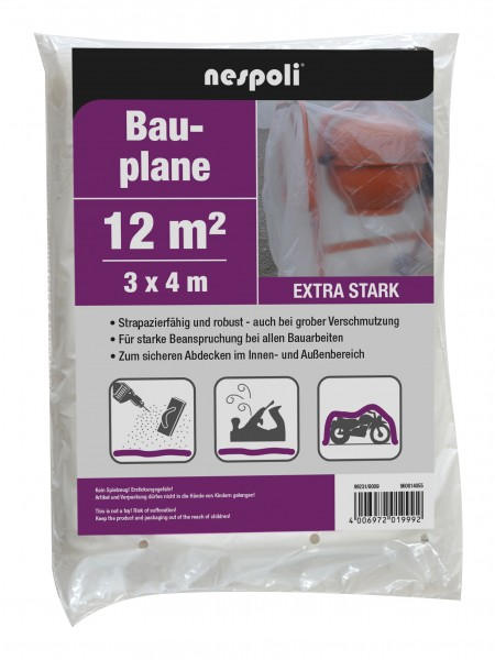 Schabert Bauplane 3 x 4 m transparent