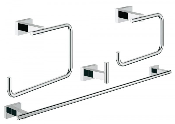 GROHE Essentials Cube Bad-Set 4 in 1 Metall chrom glänzend