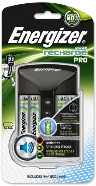 Energizer Pro Charger inkl. 4-Mignon AA