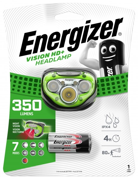 Energizer Kopflampe Advanced 7 LED inkl. 3 Micro AAA 25 m