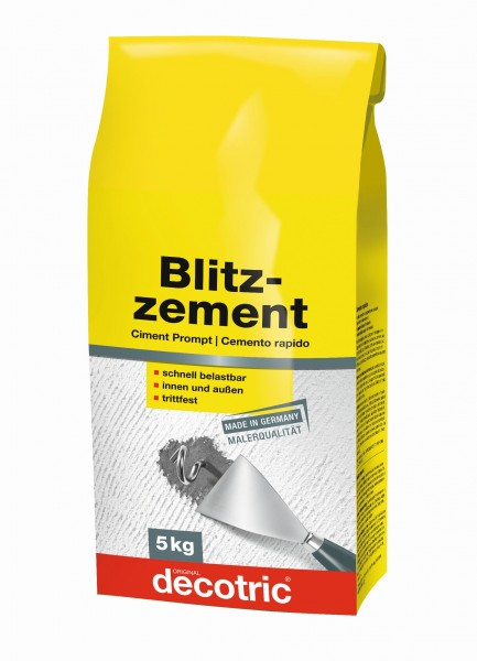 Decotric Blitzzement grau 5 kg