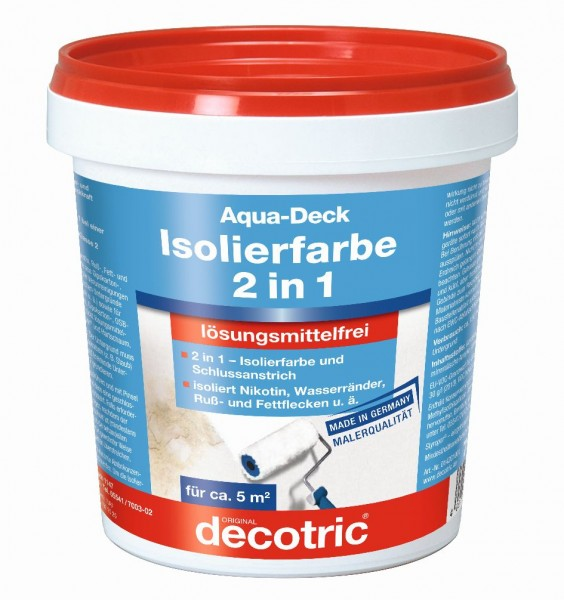 Decotric Aqua-Deck Isolierweiß 750 ml E.L.F.