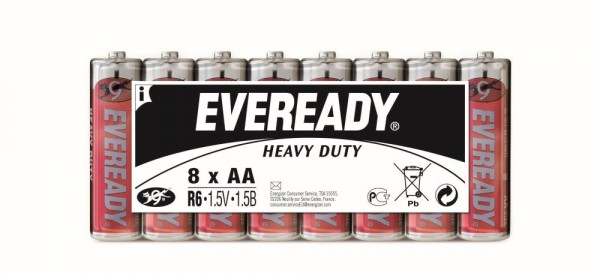 Energizer Eveready Heavy Duty Mignon AA 1,5 V 8er Pack