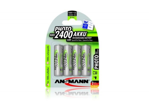 Ansmann NiMH PHOTO Akku Mignon AA 2.400 mAh 4er Pack