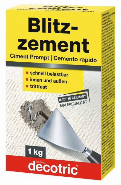 Decotric Blitzzement grau 1 kg