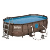 Bestway Power Steel Pool Komplett-Set, oval,