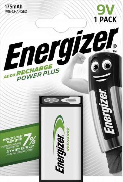 Energizer NiMH Akku Power Plus 9V E-Block 175 mAh