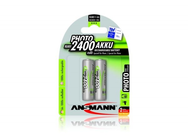 Ansmann NiMH PHOTO Akku Mignon AA 2.400 mAh 2er Pack