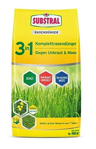 Substral 3in1 Komplettrasendünger für 400 m² 14 kg