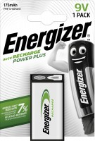 Energizer NiMH Akku Power Plus 9V E-Block, 175 mAh