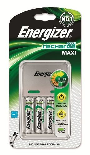Energizer Maxi Charger inkl. 4-Mignon AA
