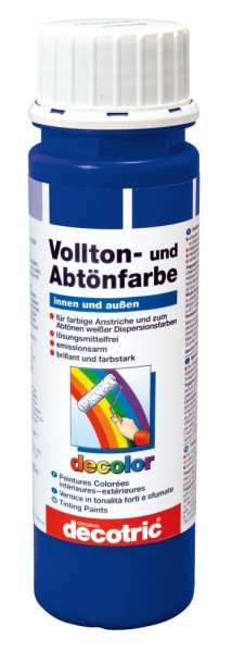 Decotric Vollton- und Abtönfarbe 250 ml ultramarin