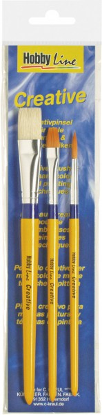 Kreul Hobby Line Universalpinsel Synthetics und Borste 3er Set