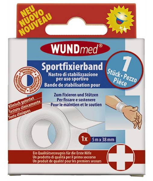 Wundmed Sportfixierband 3,8 cm x 5 m