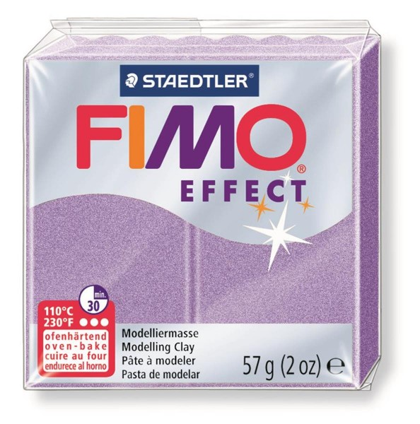 STAEDTLER Fimo effect pearl effect lila 57 Gramm