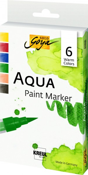 Kreul Solo Goya Paint Marker Set 6 Warm Colors