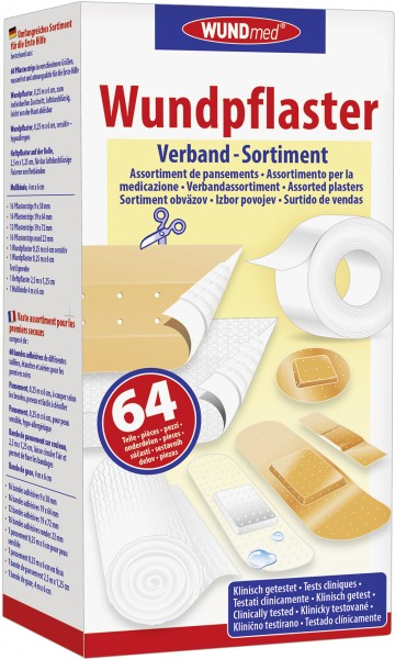 Wundmed Verband-Sortiment 64-teilig