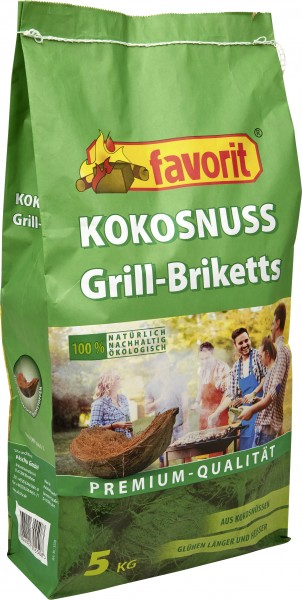 Favorit Kokos Grillbriketts 5 kg 5 kg