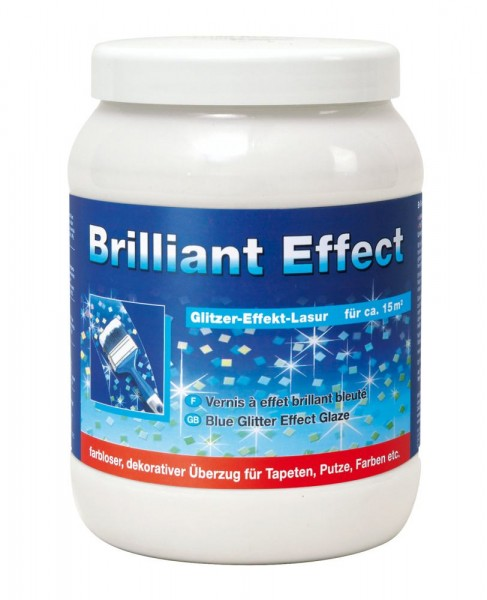 Decotric Brillant Effekt-Lasur 1,5 l blue Glitter