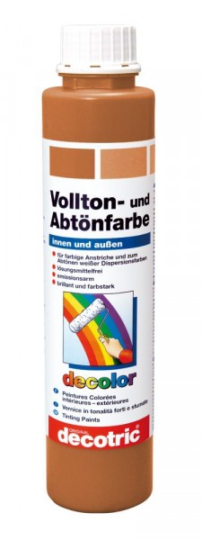 Decotric Vollton- und Abtönfarbe 750 ml terracotta