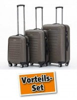 TrendLine Koffer-Trolley bronze 3er-Set