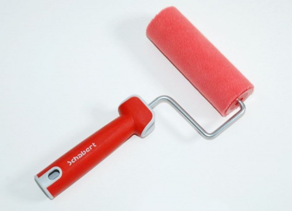 Schabert Farbroller RedFibre Soft-Touch 14 cm 4 mm rot