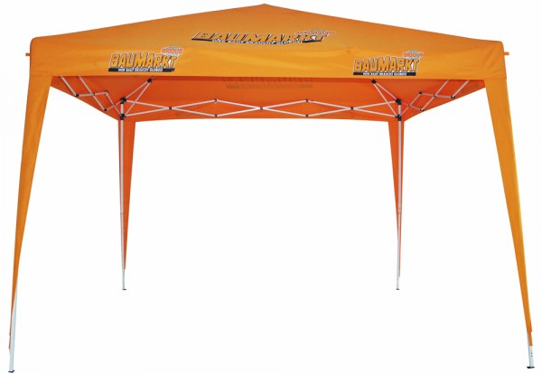 TrendLine Faltpavillon im Globus-Design orange 295 x 295 cm