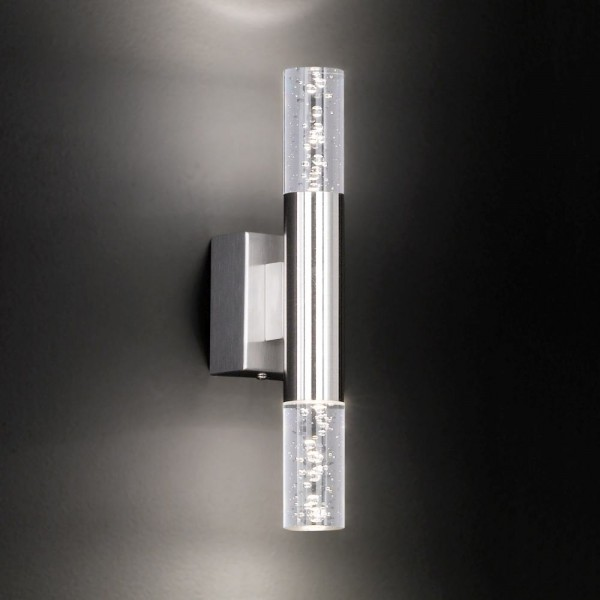 Honsel LED Wandleuchte Bubble matt-nickel