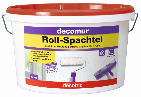 Decotric Glatte Wand Roll-Spachtel 6 kg
