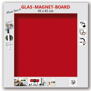 The Wall Glas- Magnetboard bordeaux 45 x 45 cm