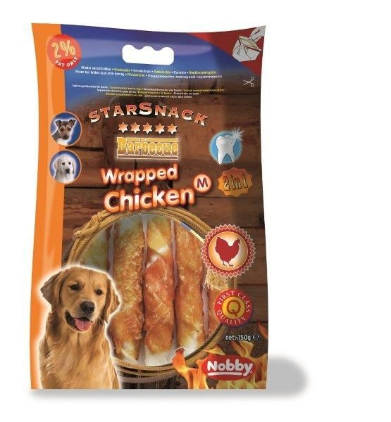 Nobby StarSnack Barbecue Wrapped Chicken 150 g