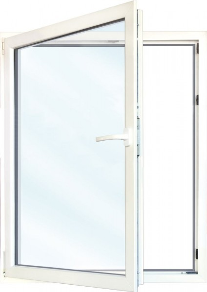 Meeth Fenster weiß 1100 x 1200 mm DIN links System 70/3S Euronorm 1-flg Dreh-Kipp