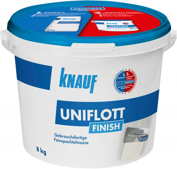 Knauf Spachtelmasse Uniflott Finish weiß 8 kg