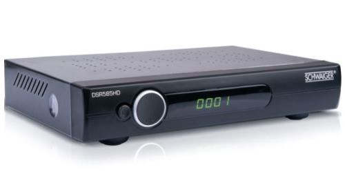 SCHWAIGER – Satelliten Receiver – Full HD (DVB-S2) DSR585HDL – Free to Air LAN Anschluss
